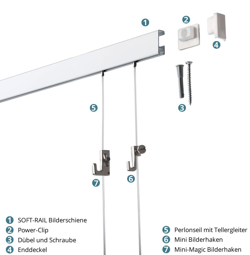 Soft-Rail® Komplettset, 24 Meter
