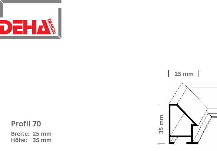 DEHA Profil 70, Zuschnittprofil