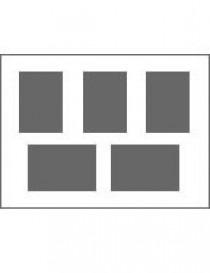 3 Ausschnitte 10x15 cm, 2 St. 9x13 cm