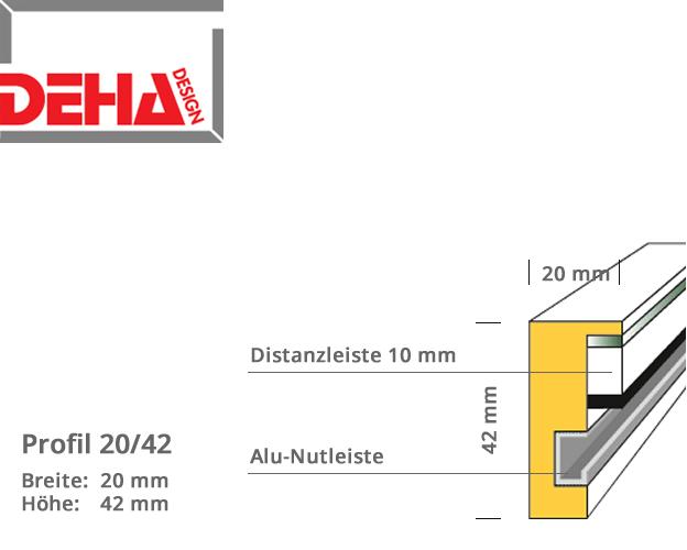 DEHA Profil 20/42, Distanzrahmen