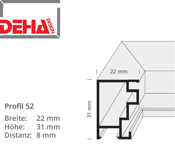 DEHA Profil 52, Distanzrahmen