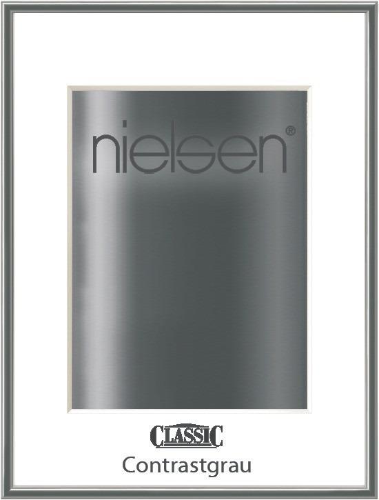 grauer Nielsen Classic Fotorahmen Farbe Contrastgrau