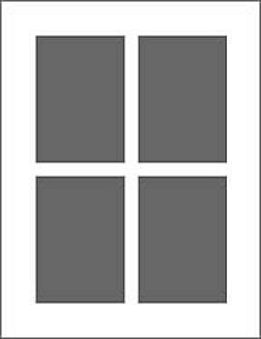 4 Ausschnitte 10x15 cm