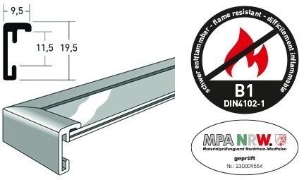 nielsen classic b1 brandschutzrahmen zertifiziert nach din. Black Bedroom Furniture Sets. Home Design Ideas