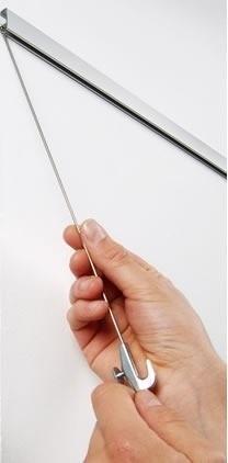 Stabaufhängung Soft-Rail® mit Maxi Bilderhaken