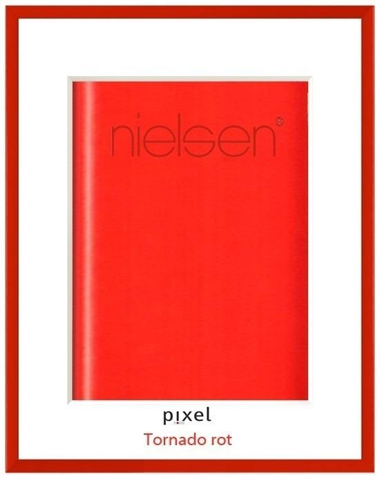 roter Nielsen Pixel Alurahmen Farbe Tornado rot