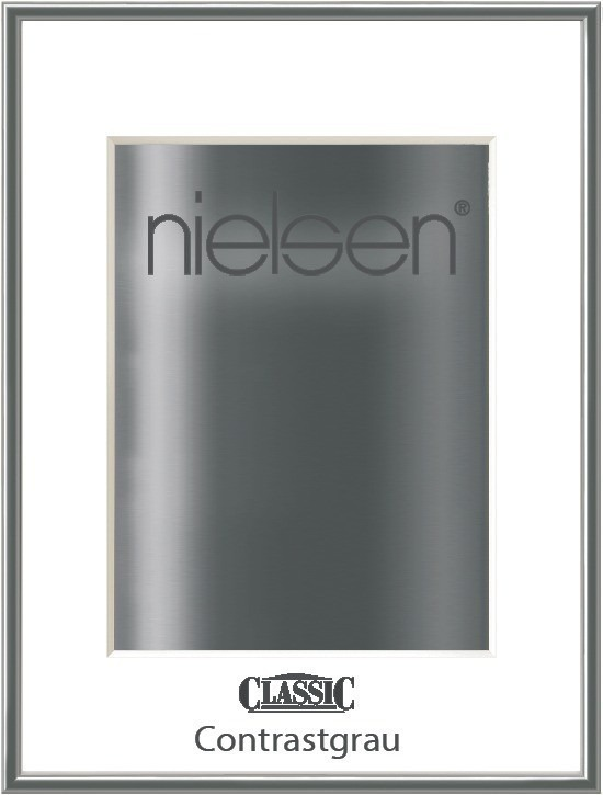 grauer Nielsen Classic Alurahmen Farbe Contrastgrau