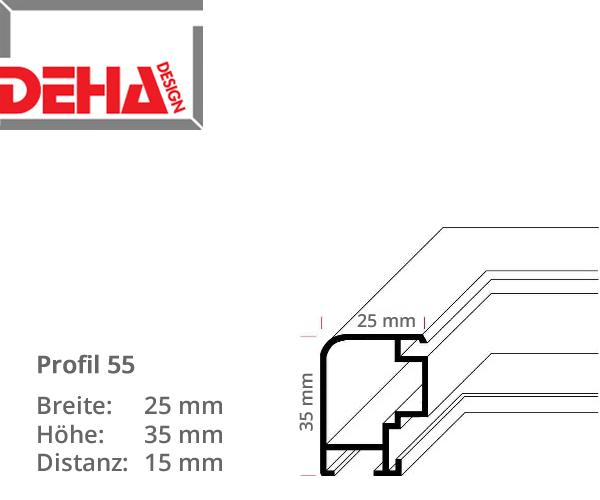 DEHA Profil 55, Distanzrahmen