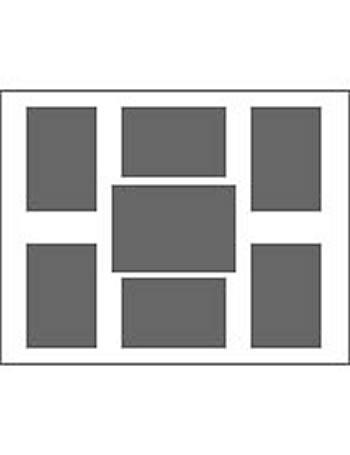 6 Ausschnitte 10x15 cm, 1 St. 13x18 cm