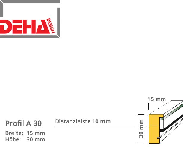 DEHA Profil A30, Distanzrahmen