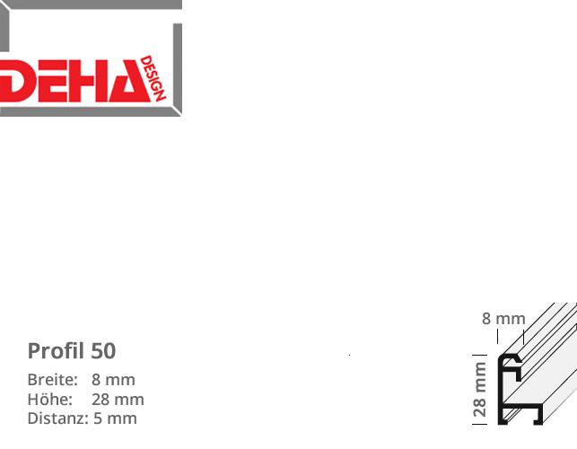 DEHA Profil 50, Distanzrahmen