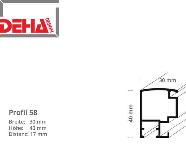 DEHA Profil 58, Distanzrahmen
